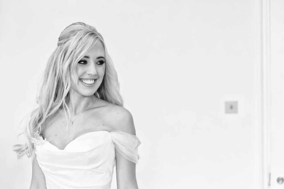 half up half down wedding hair by Gemma Sutton