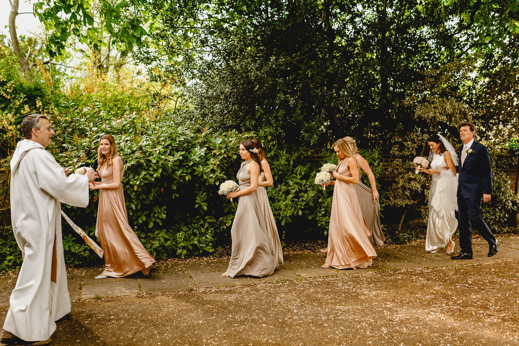 Camilla's bridal party - Wimbledon Wedding