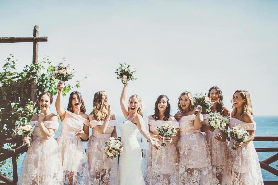 Wedding fun with all my bridesmaids xx Villa Eva, Ravello, Amalfi Coast, Italy