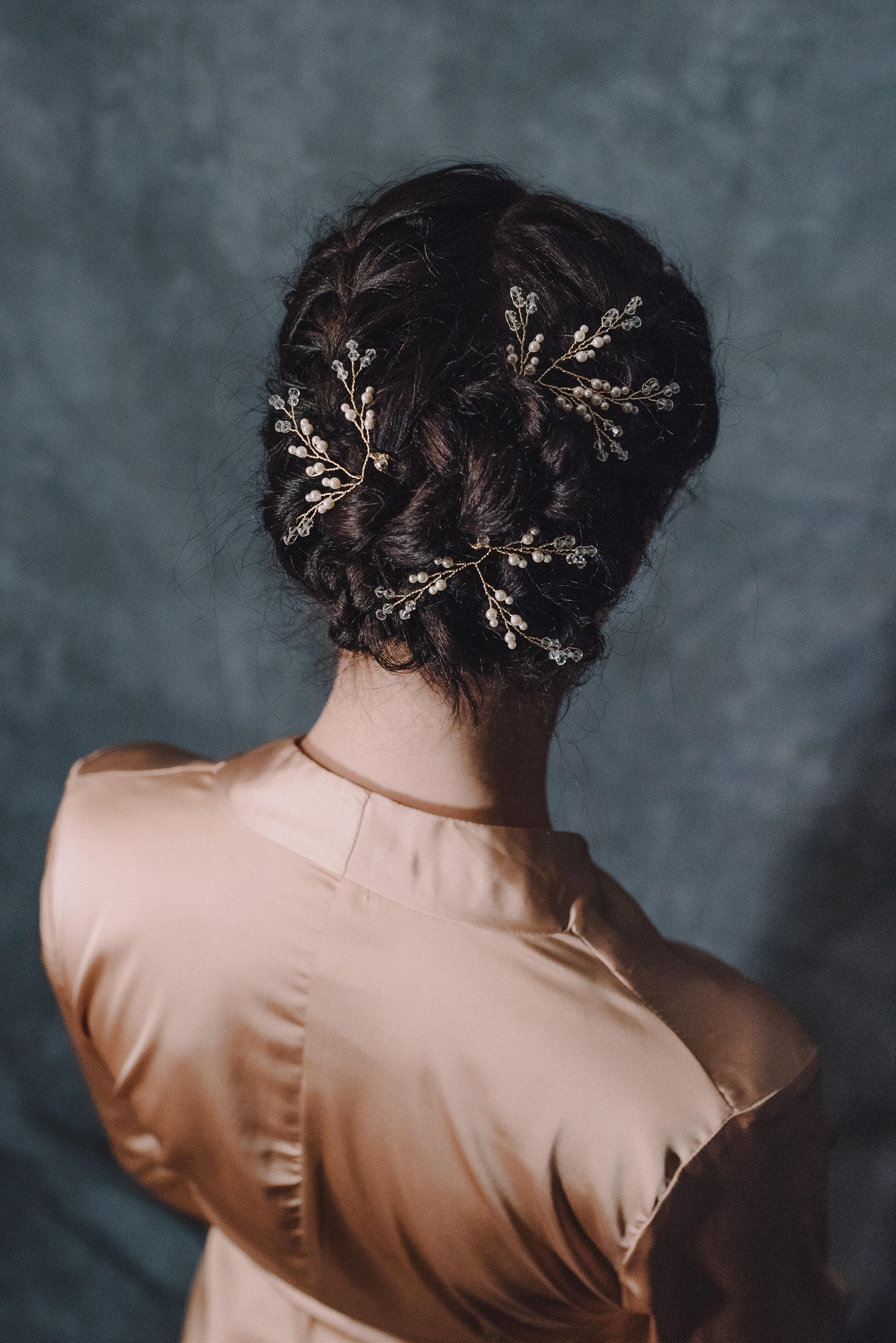 Gemma Sutton bridal Angel hair pins
