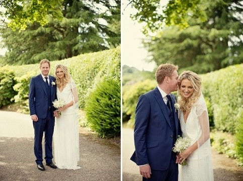 gorgeous bride and groom, boho waves by Gemma Sutton