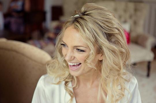 blond bridal boho waves