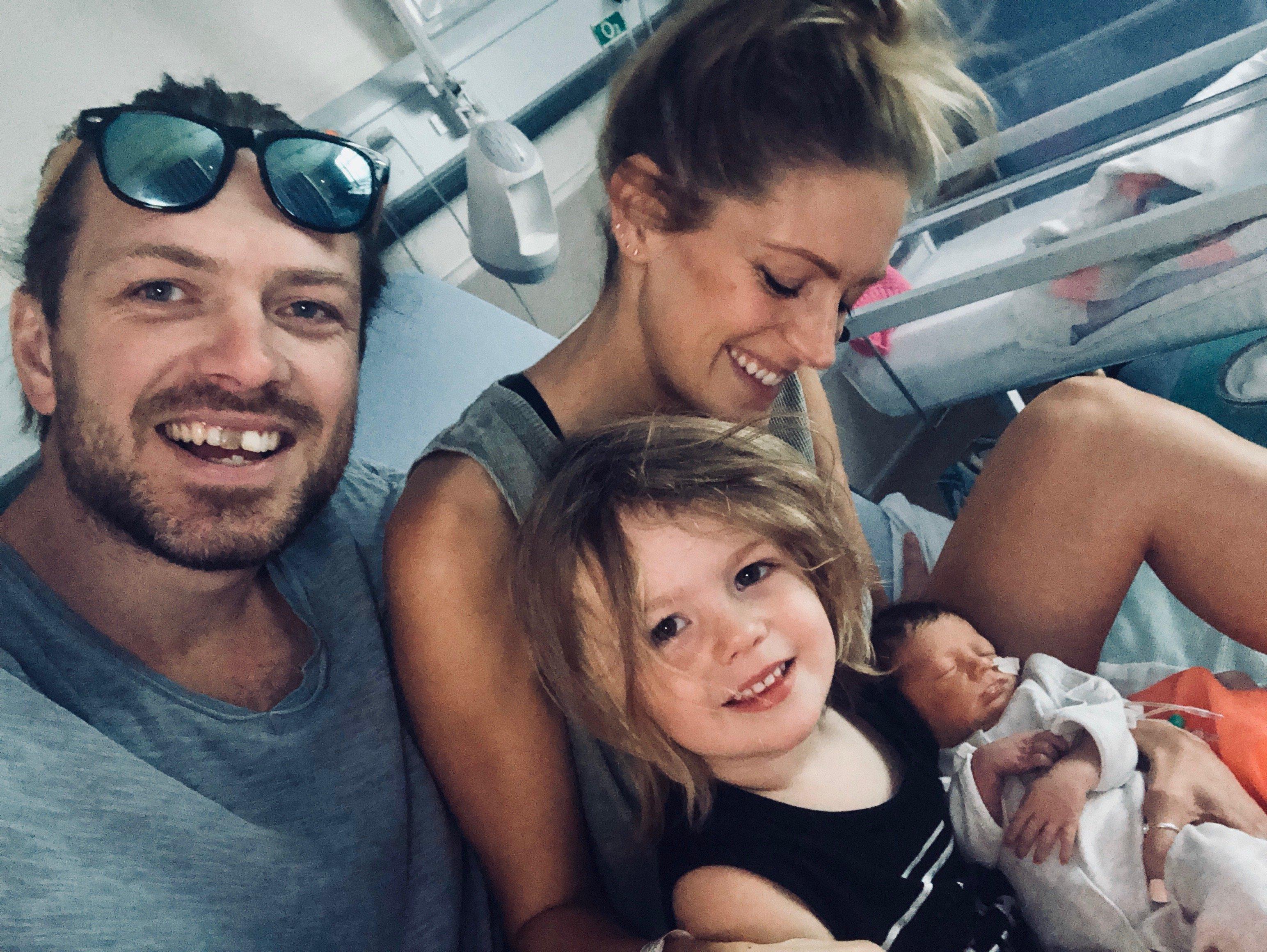 family - new born