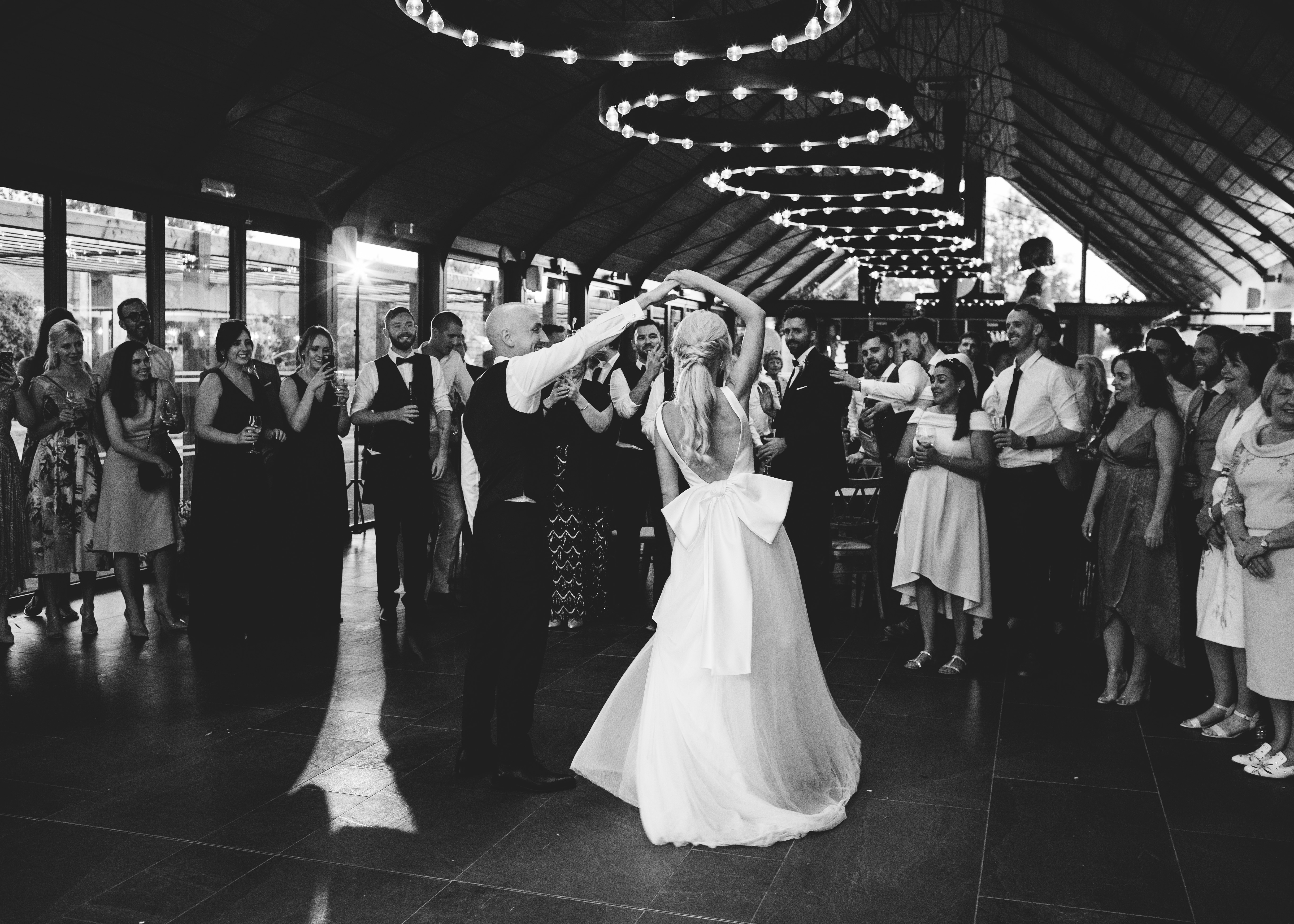 bride and groom take to the dancefloor at Syrencot for their first dance