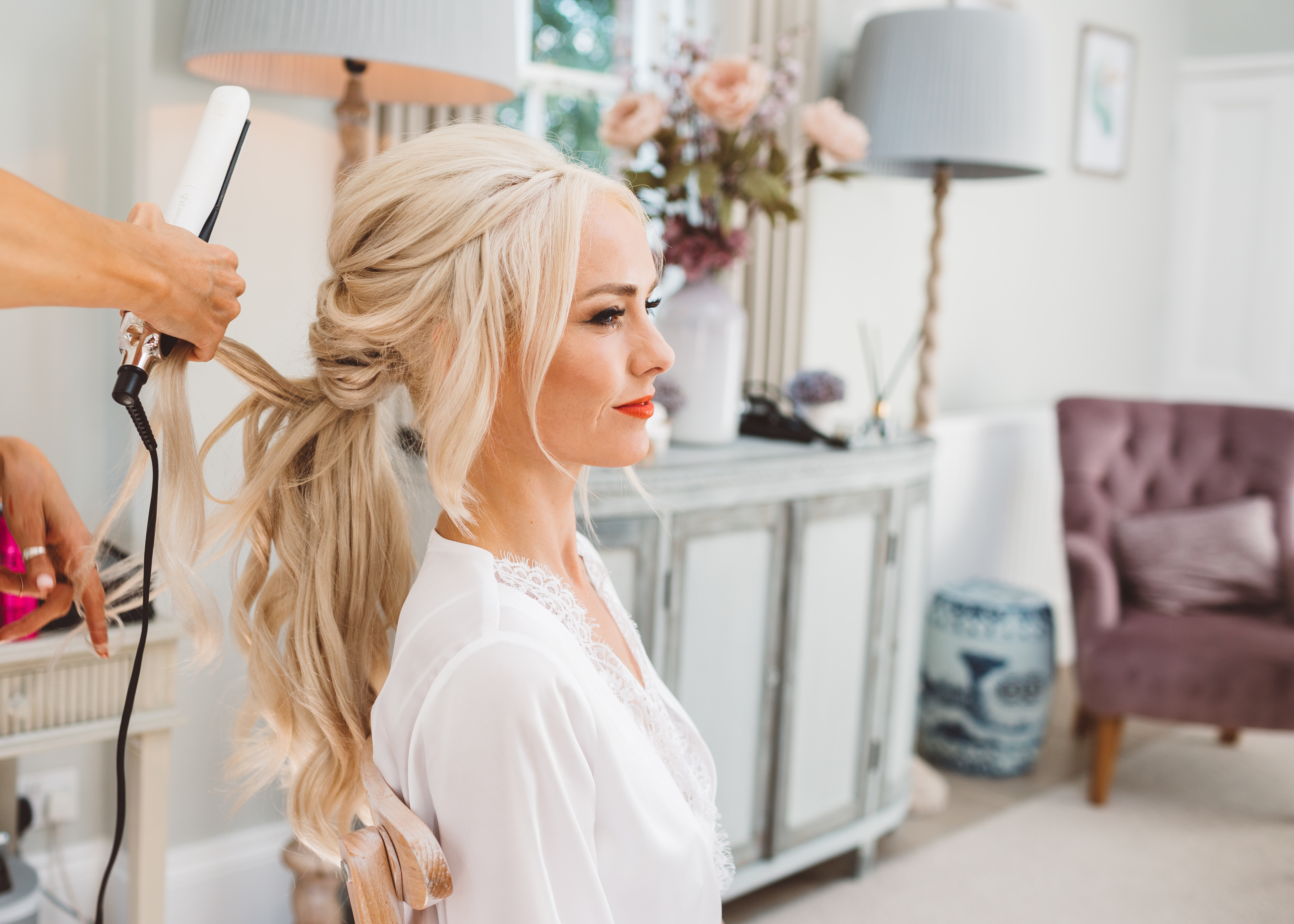 big beautiful bridal ponytail